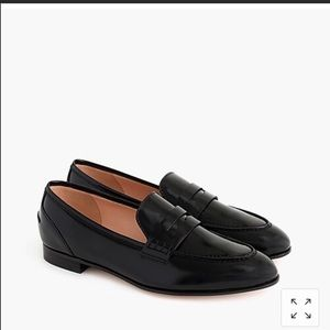 J Crew Academy Penny Loafers Black